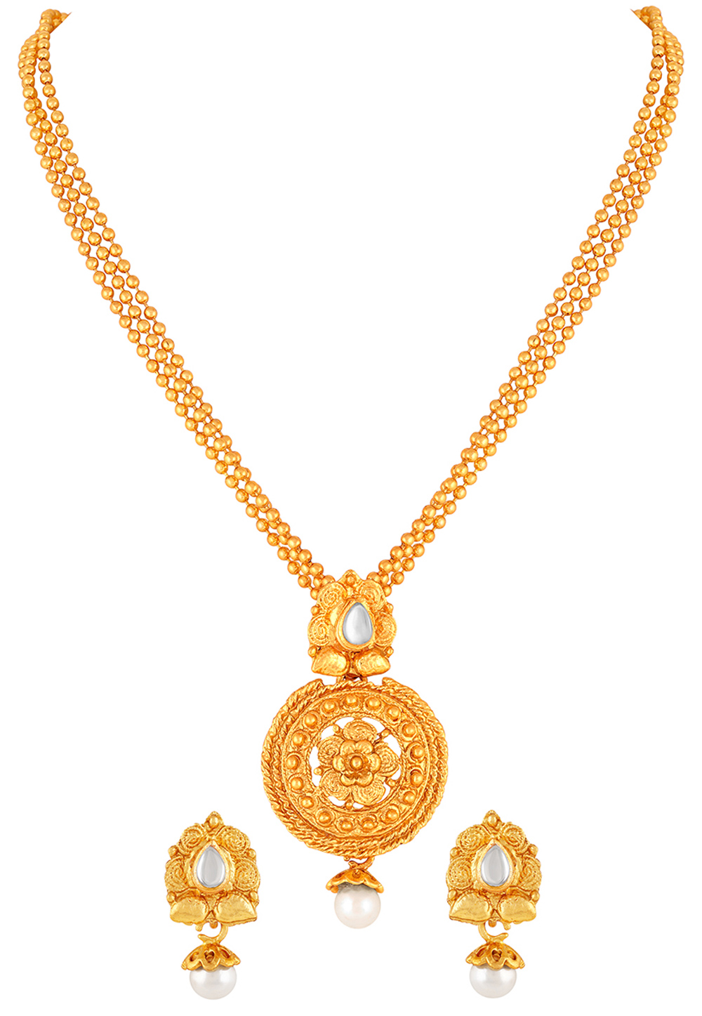 Golden Zinc Pendant Set 191242