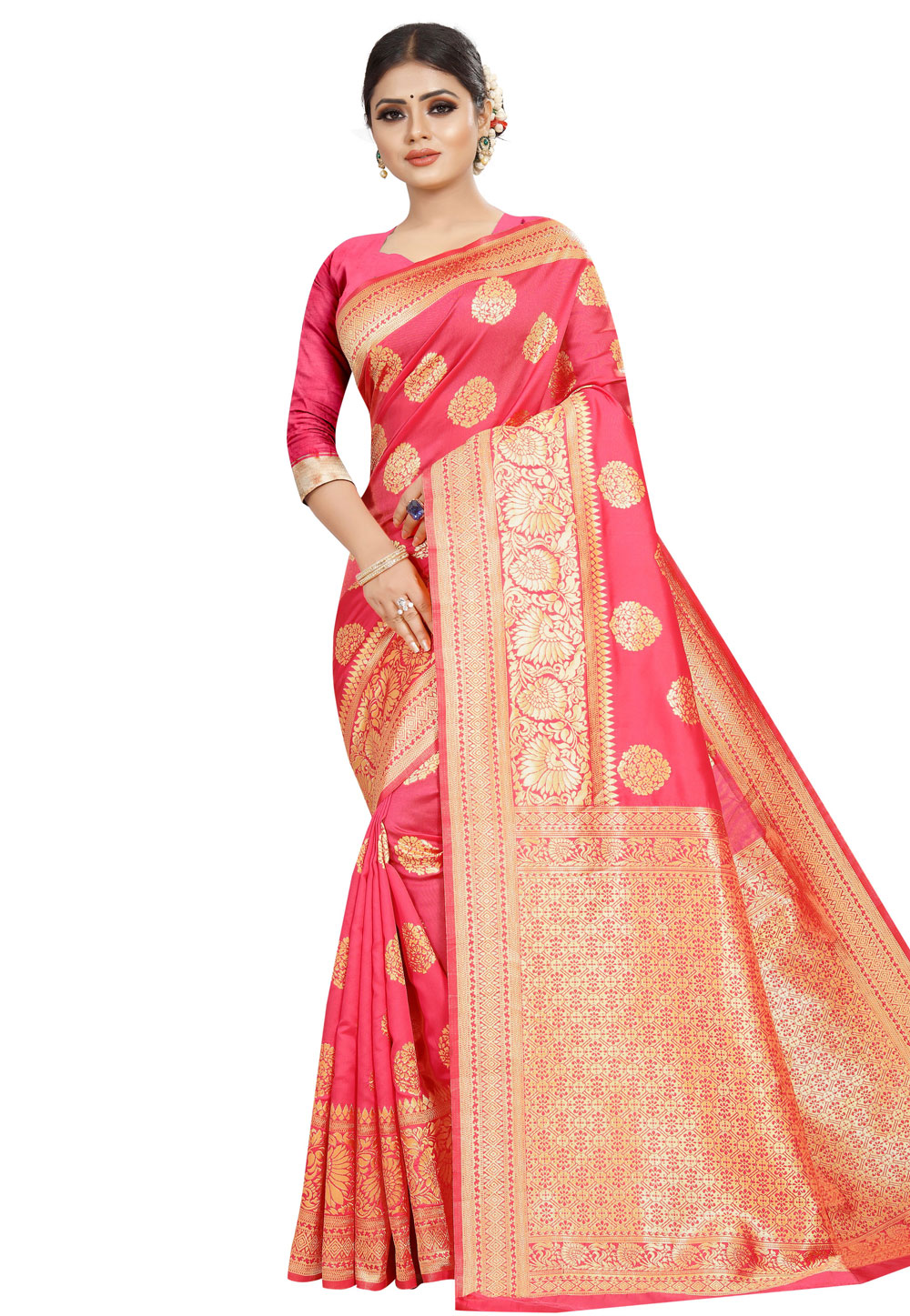 Pink Silk Festival Wear Saree 168854