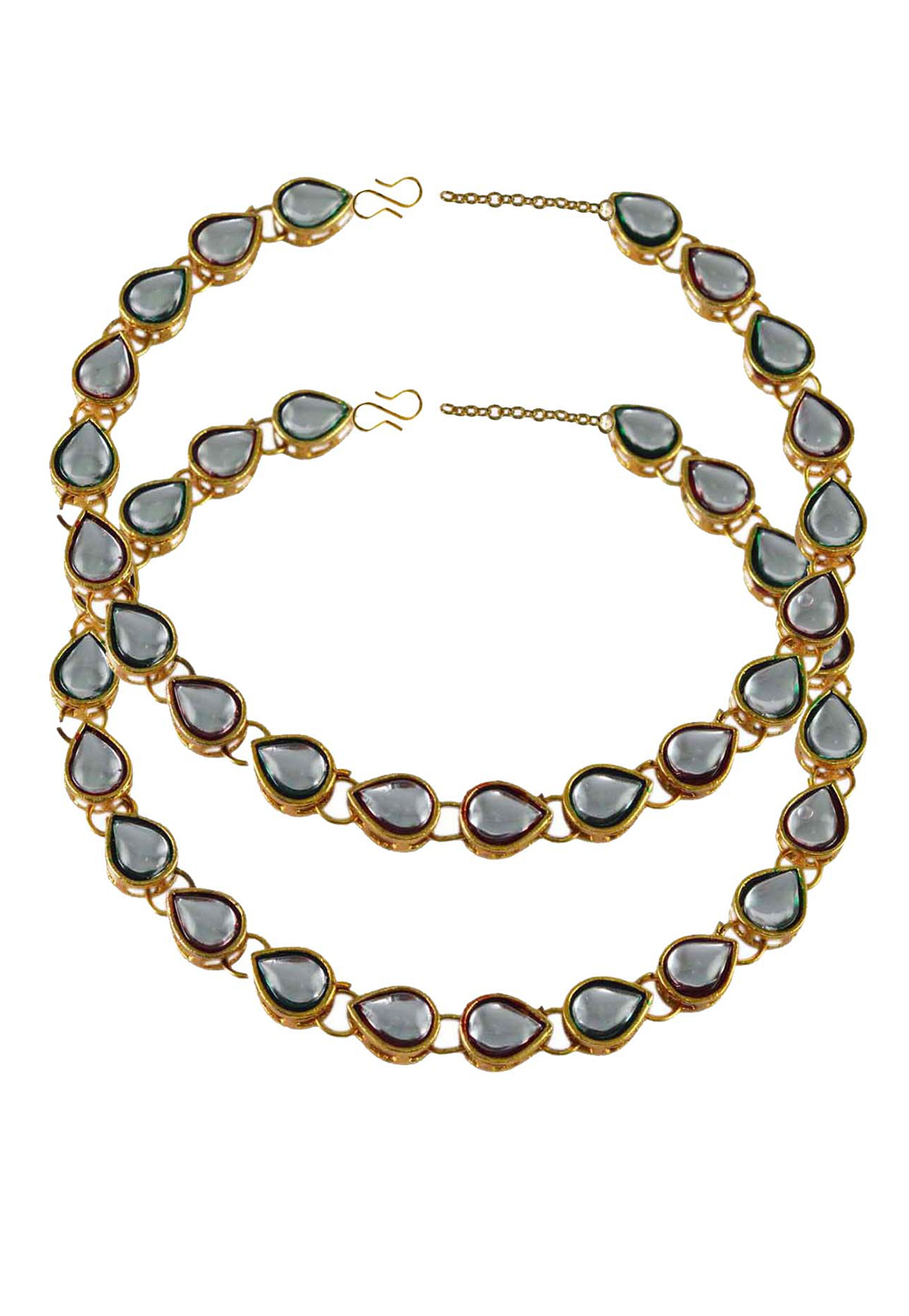 Grey Brass Gold Plated Anklets 171250