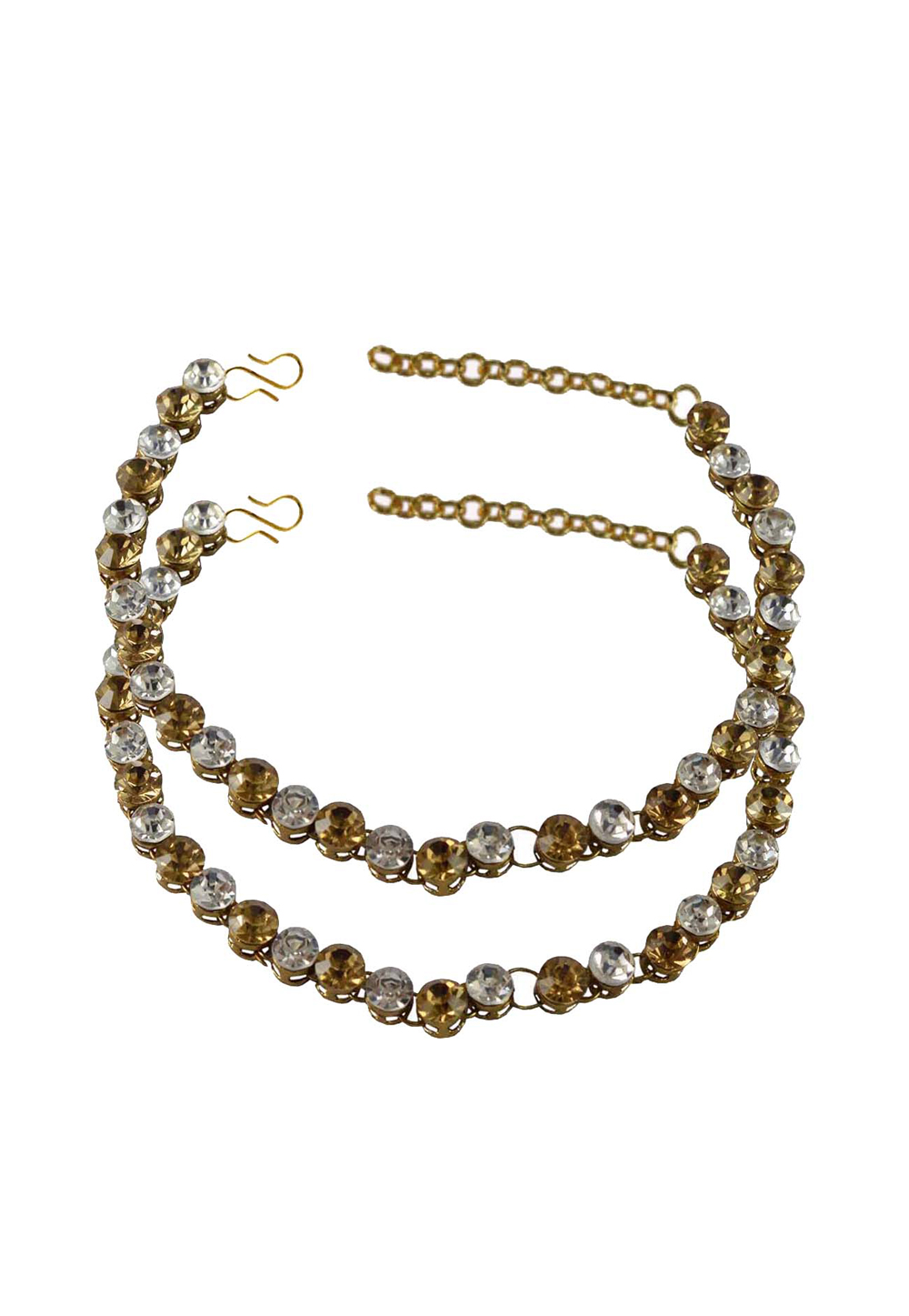 White Brass Gold Plated Anklets 171252