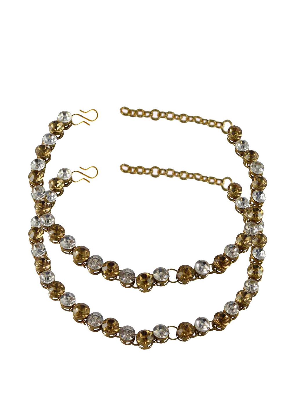 White Brass Gold Plated Anklets 171253