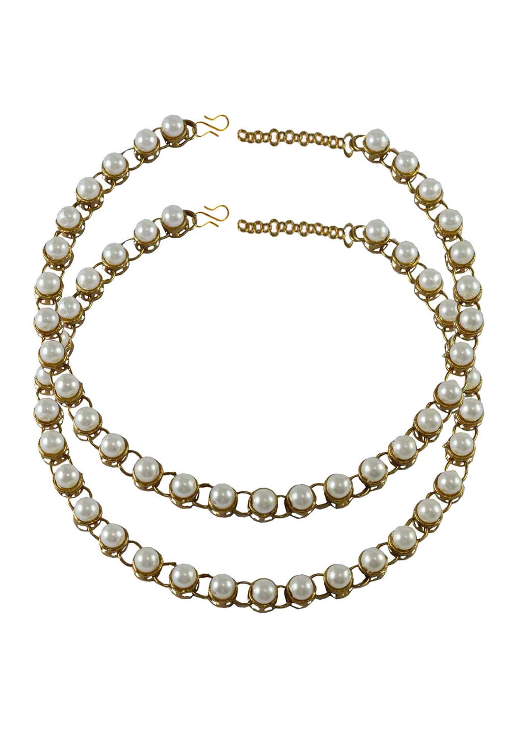 White Brass Gold Plated Anklets 171257