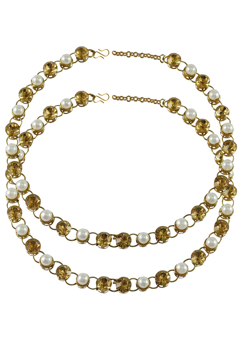 Golden Brass Gold Plated Anklets 171260