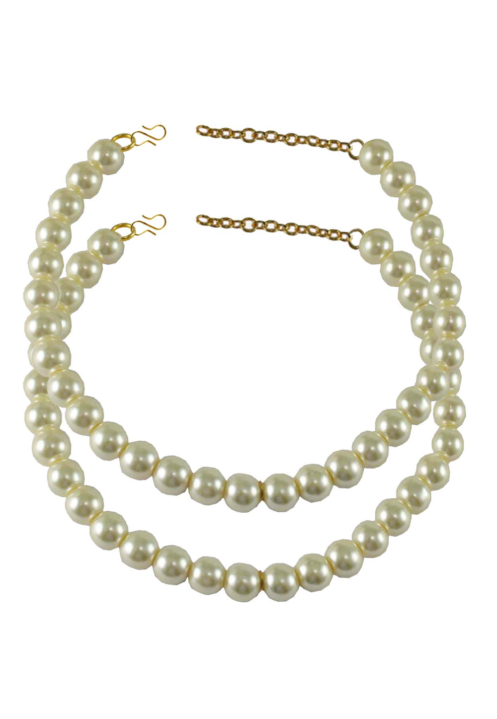 White Brass Gold Plated Anklets 171265