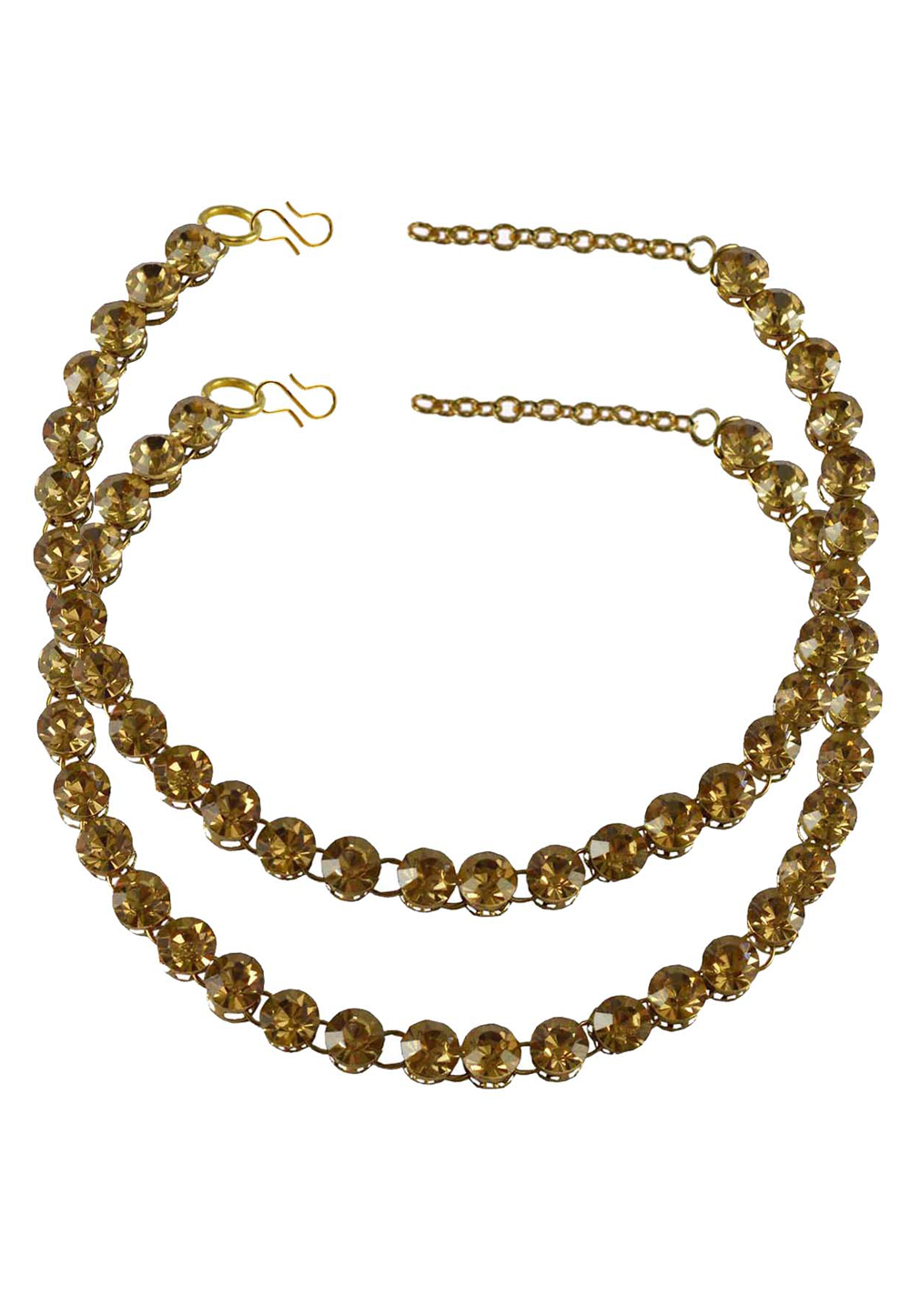 Golden Brass Gold Plated Anklets 171266
