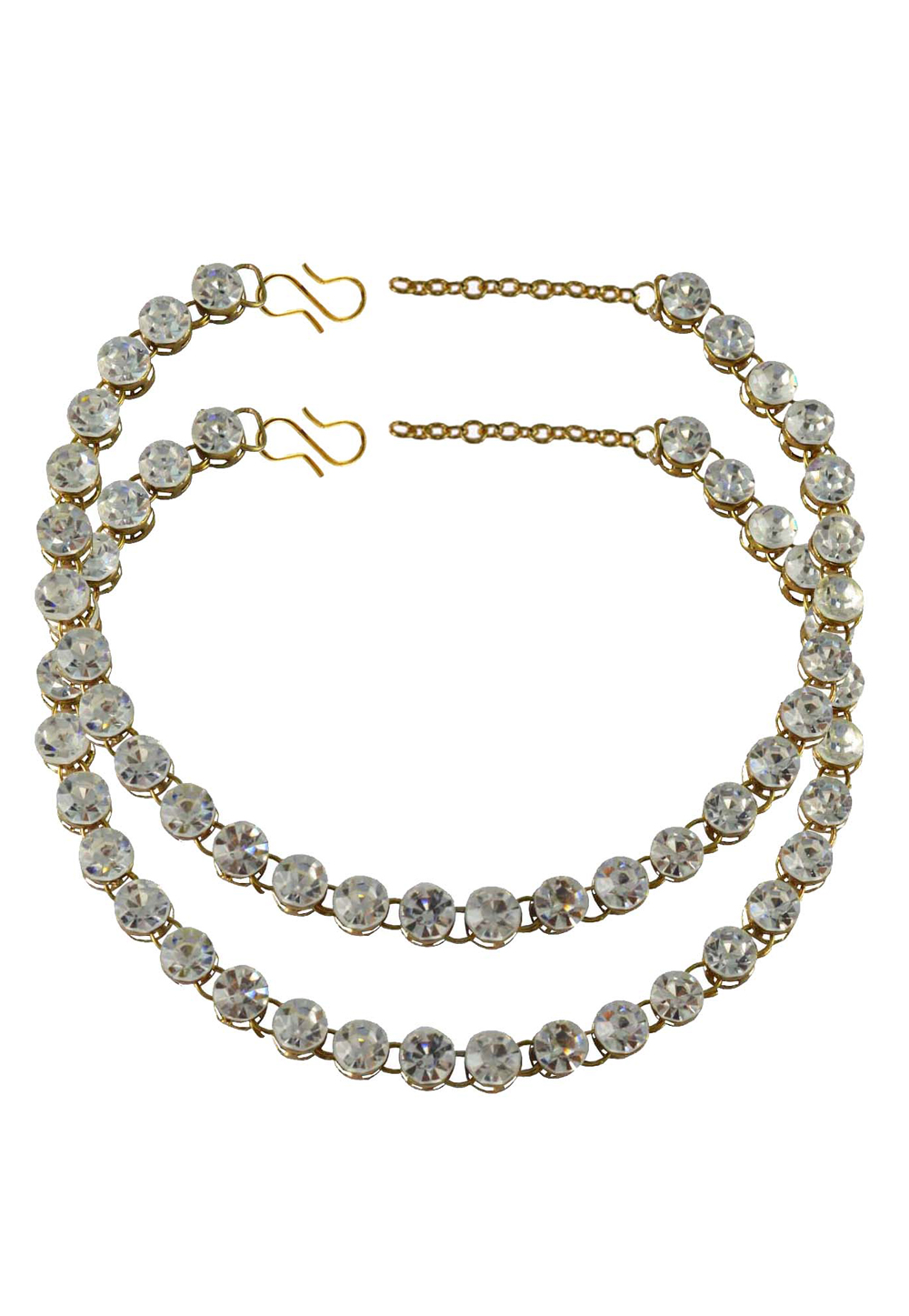 White Brass Gold Plated Anklets 171267
