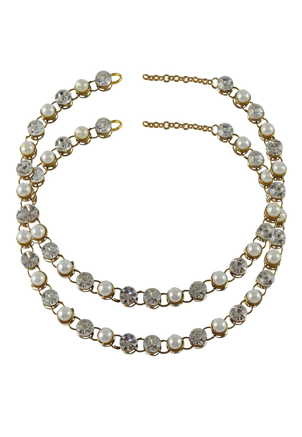 White Brass Gold Plated Anklets 171272