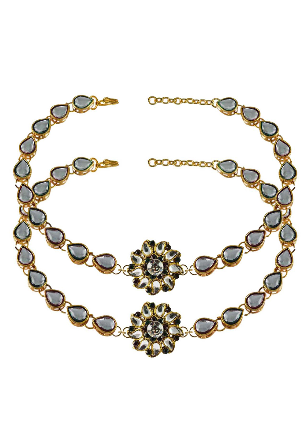 Grey Brass Gold Plated Anklets 171280