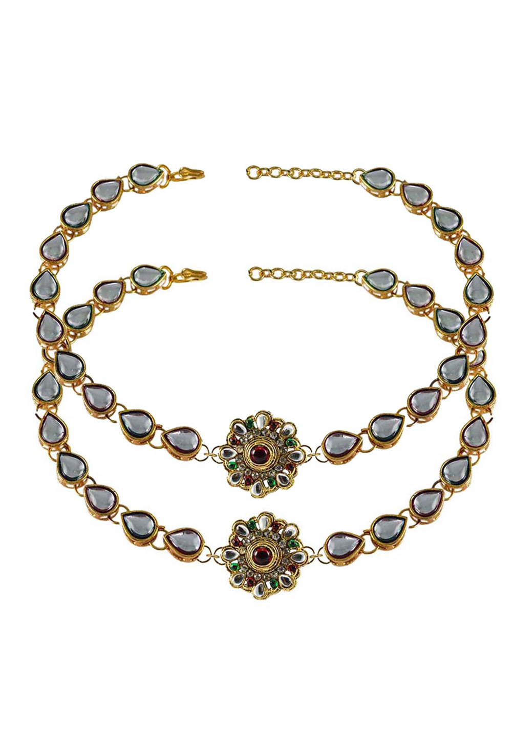 Grey Brass Gold Plated Anklets 171281