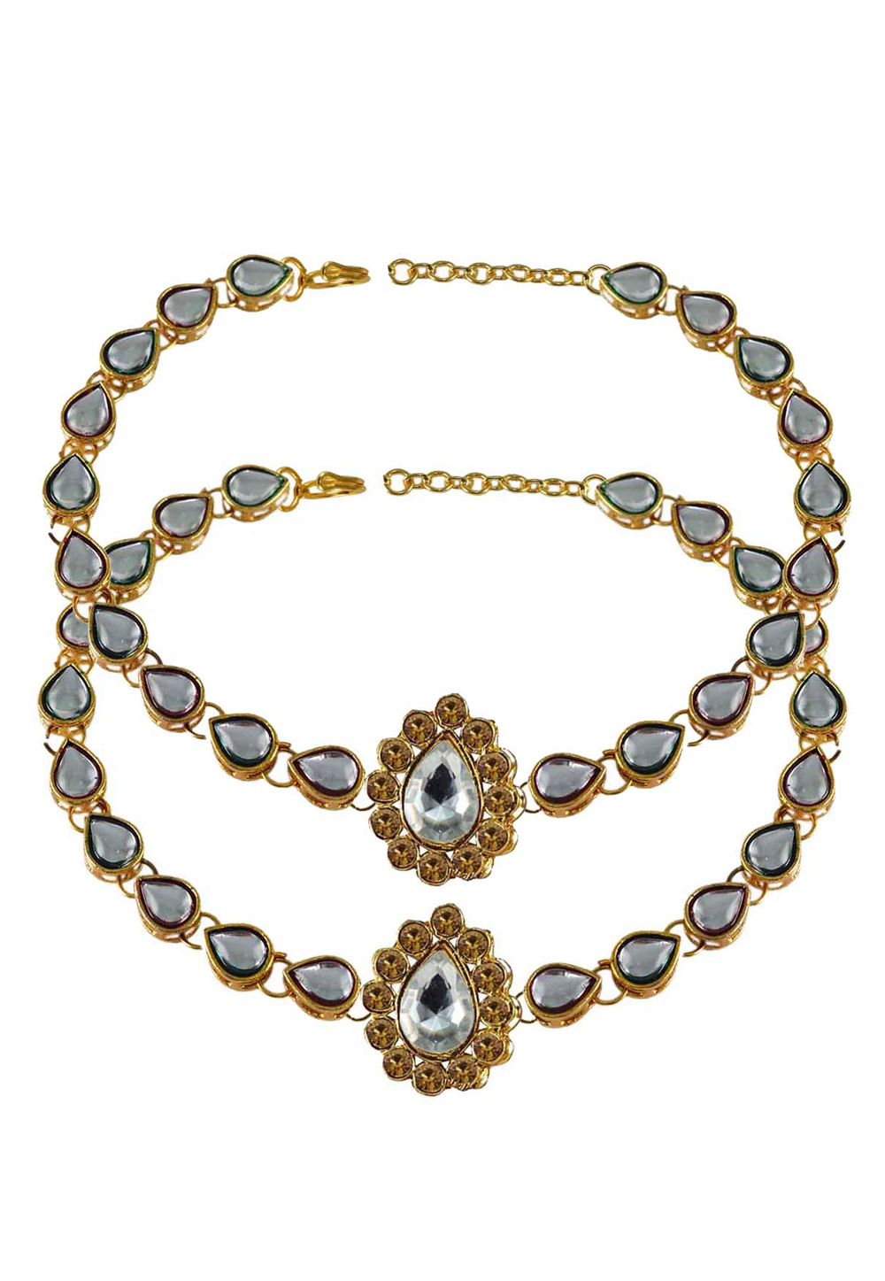 White Brass Gold Plated Anklets 171285