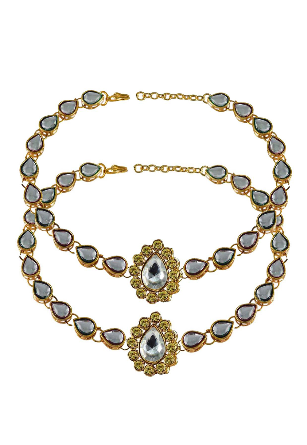 White Brass Gold Plated Anklets 171288