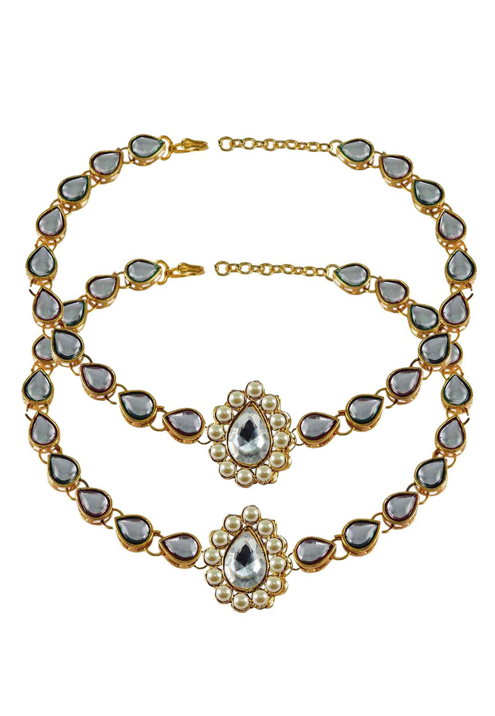 White Brass Gold Plated Anklets 171297