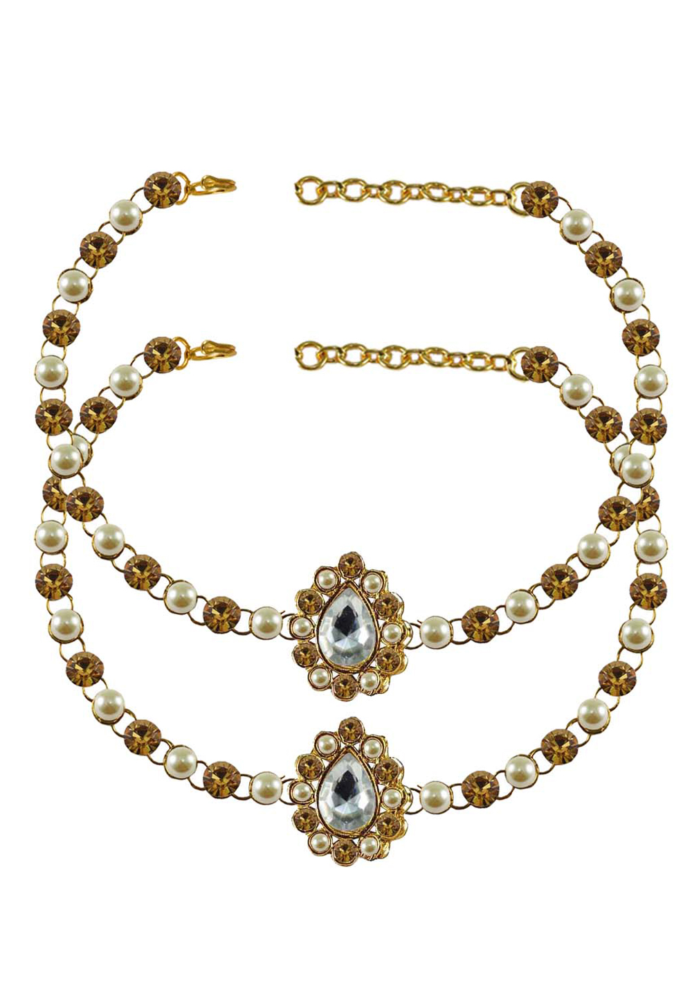 Golden Brass Gold Plated Anklets 171332