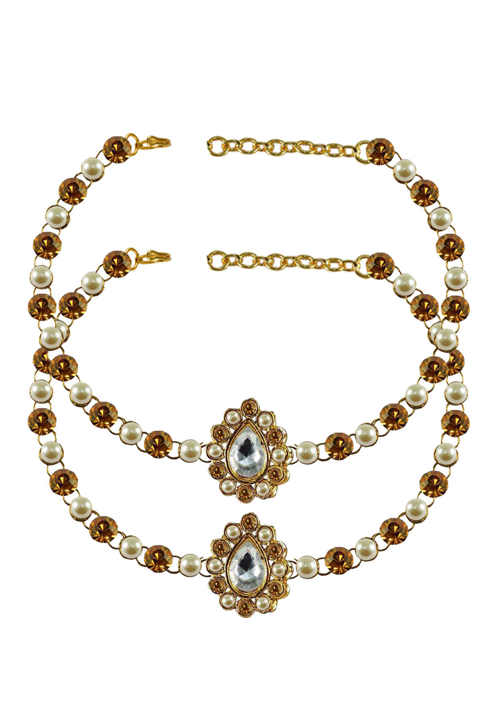 Golden Brass Gold Plated Anklets 171352