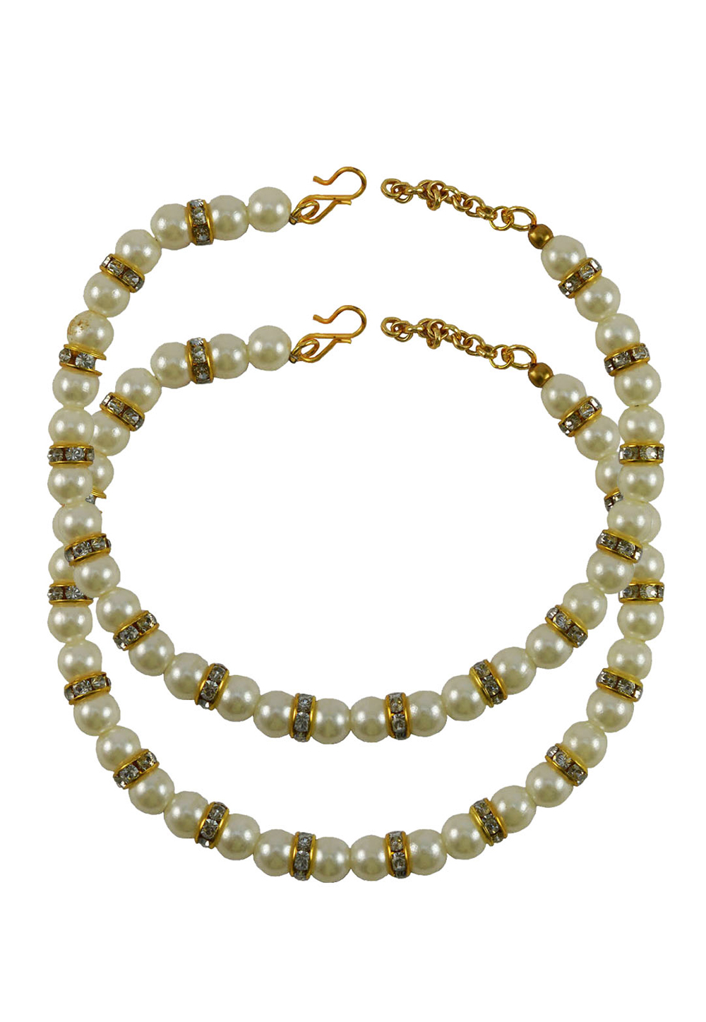 White Brass Gold Plated Anklets 171373