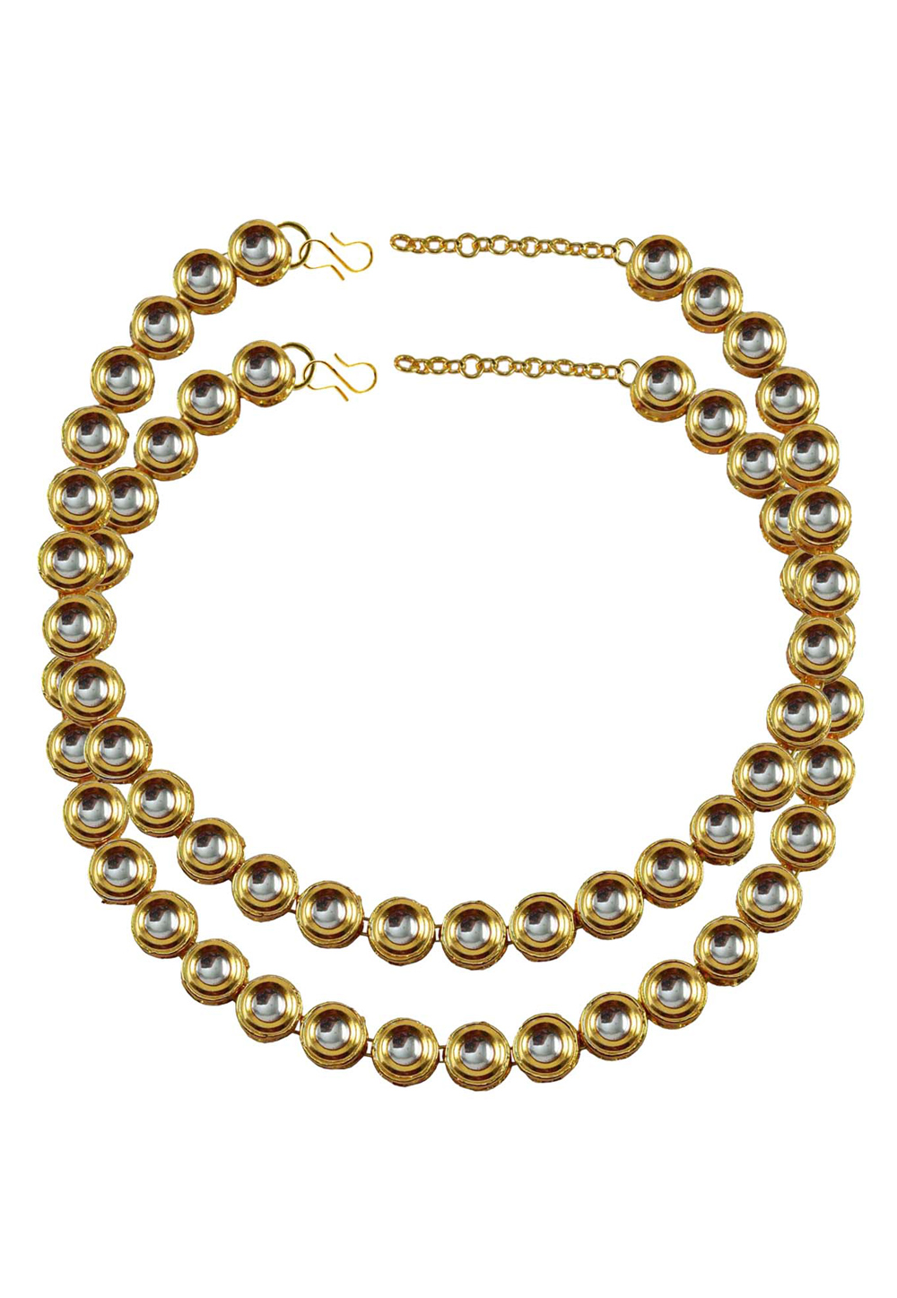 White Brass Gold Plated Anklets 171375