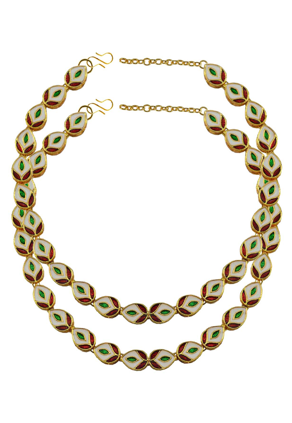 Green Brass Gold Plated Anklets 171377