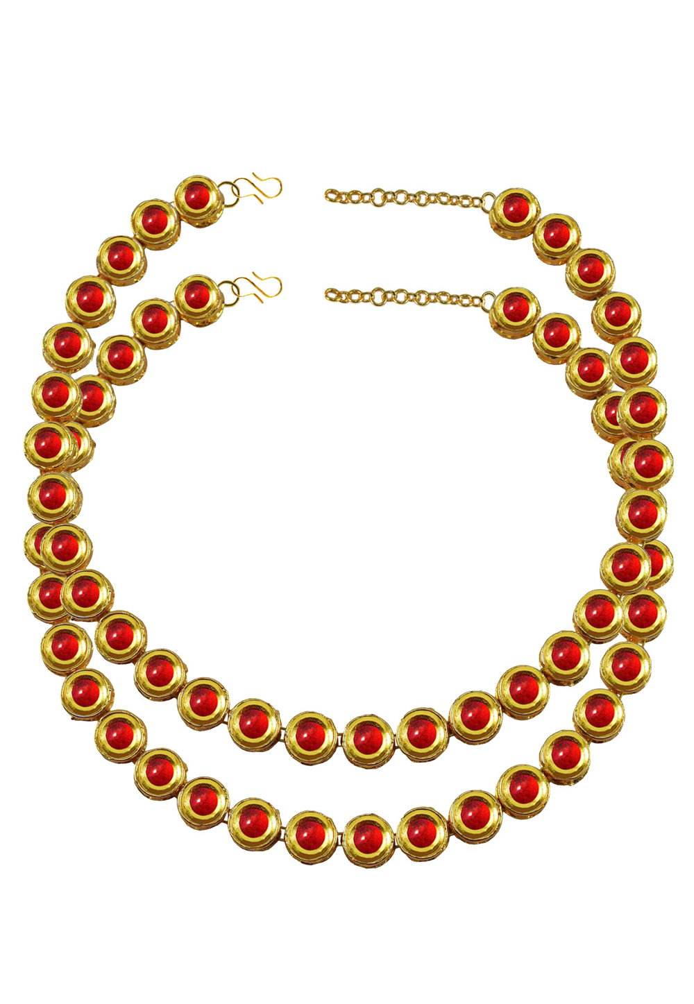 Red Brass Gold Plated Anklets 171381