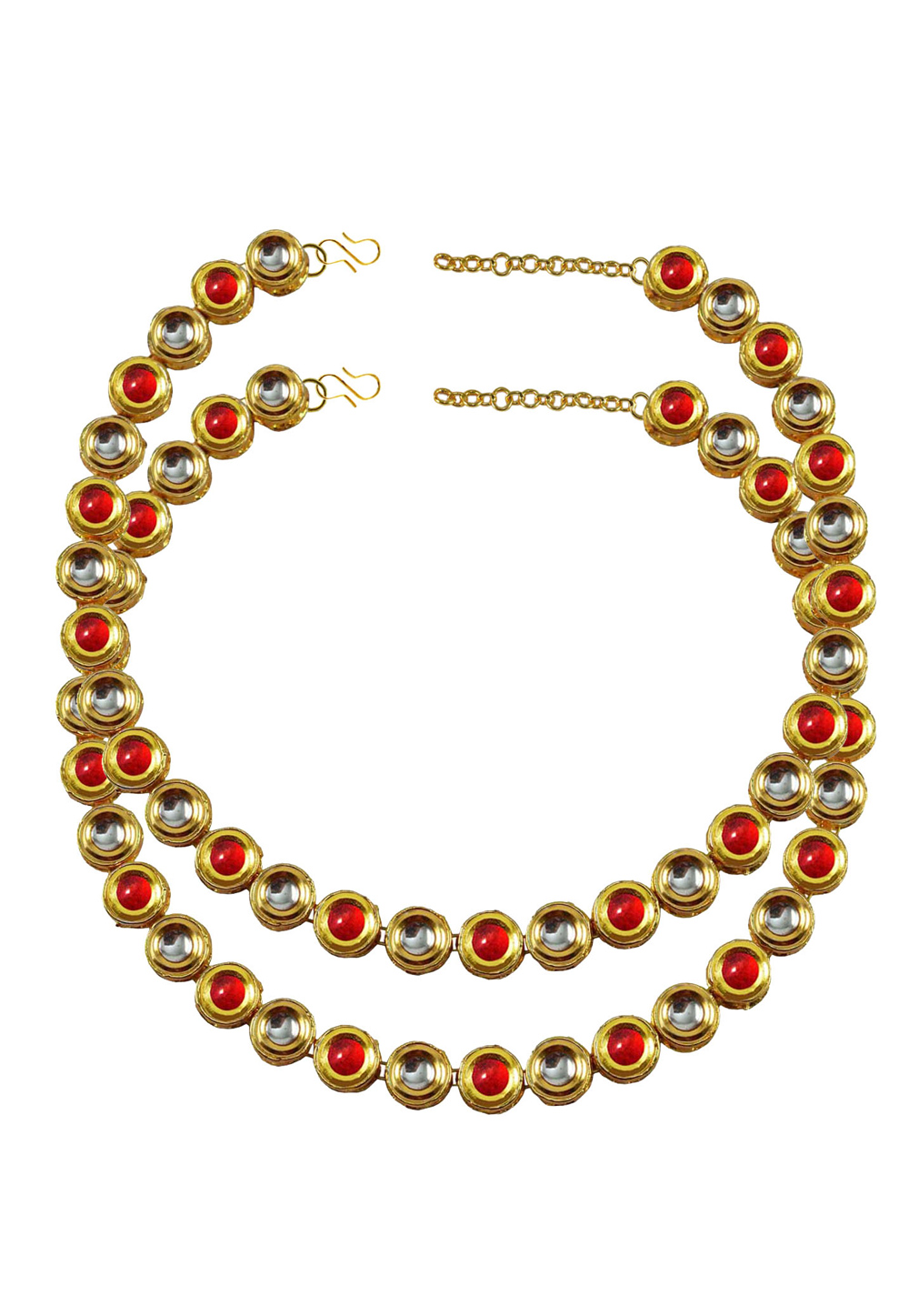 Red Brass Gold Plated Anklets 171382