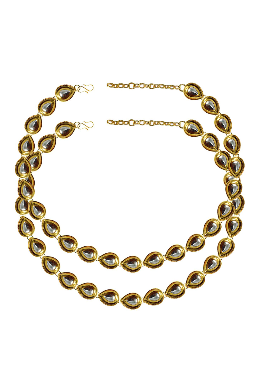 White Brass Gold Plated Anklets 171392