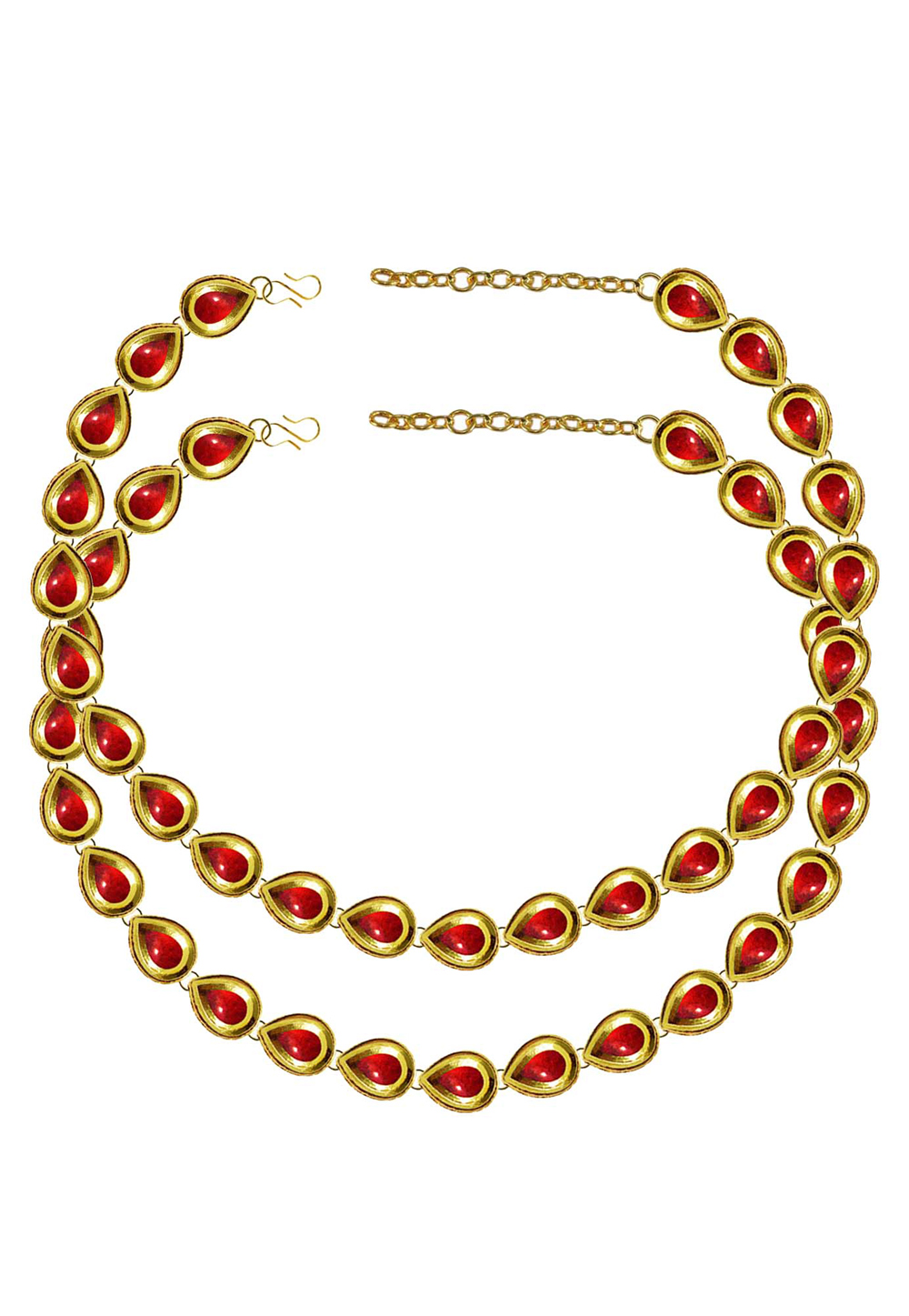 Red Brass Gold Plated Anklets 171393