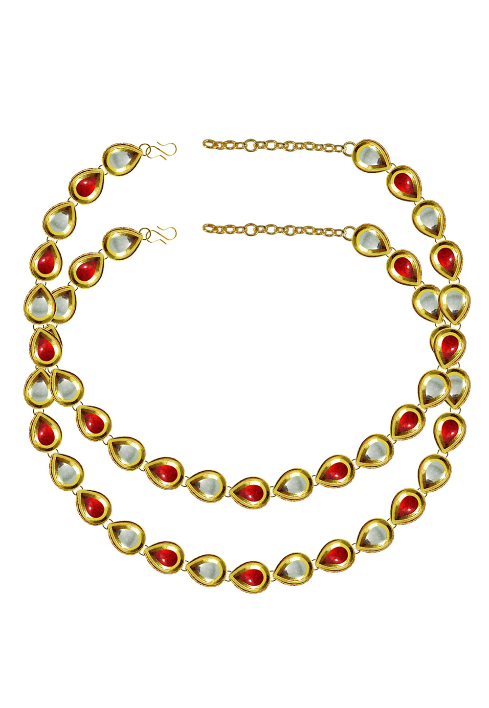 Red Brass Gold Plated Anklets 171396