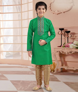 Indian traditional inspired baby boy clothing emerald green pure silk shirt cotton readymade dhoti set first birthday or wedding boys dress