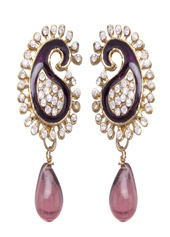 Purple Zinc Austrian Diamonds Earrings 43968